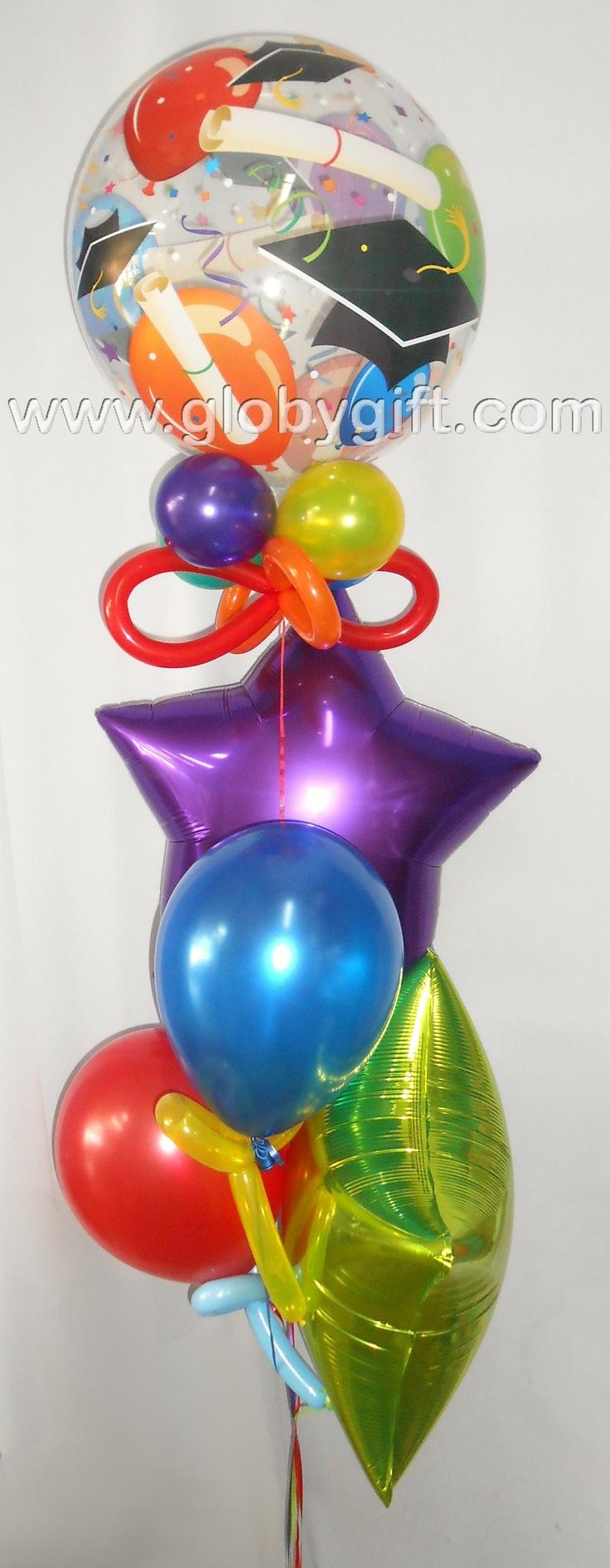 Bouquet de globos de graduación