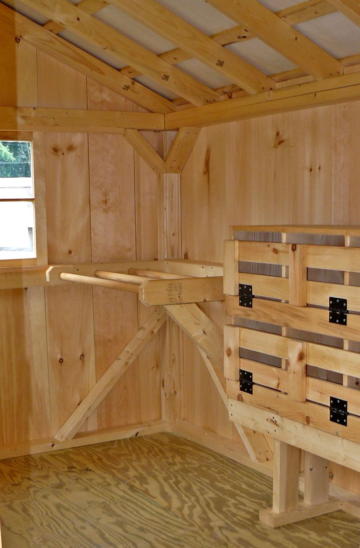 Hen house looks like the nest boxes were made from for Chicken coop interior designs