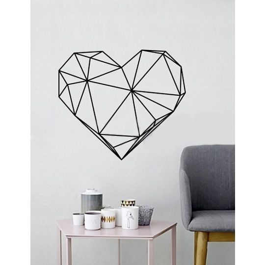Наклейка на окно и стену 'Геометрия' - Сердце