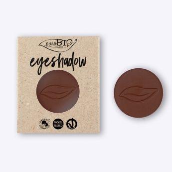 Recarga sombra de ojos Marrón Cálido PUROBIO. Recarga magnética para envase principal. Tono mate y opaco. Ideal para maquillaje de día y de noche. Maquillaje profesional #MaquillajeNatural #Purobio #Eyeshadow #Vegano #Belleza #BellezaNatural