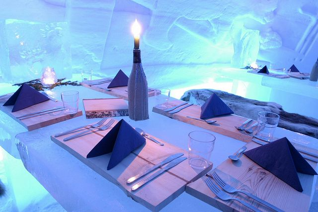 Ice restaurant in Lainio by Visit Finland, via Flickr
