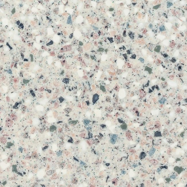Solid Surface - Terazzo by --color flecks add interest but overall effect is light