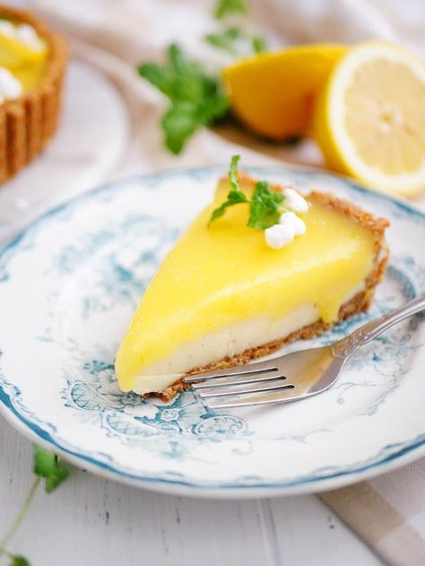 Pannacottapaj med vit choklad och lemon curd   My Kitchen Stories