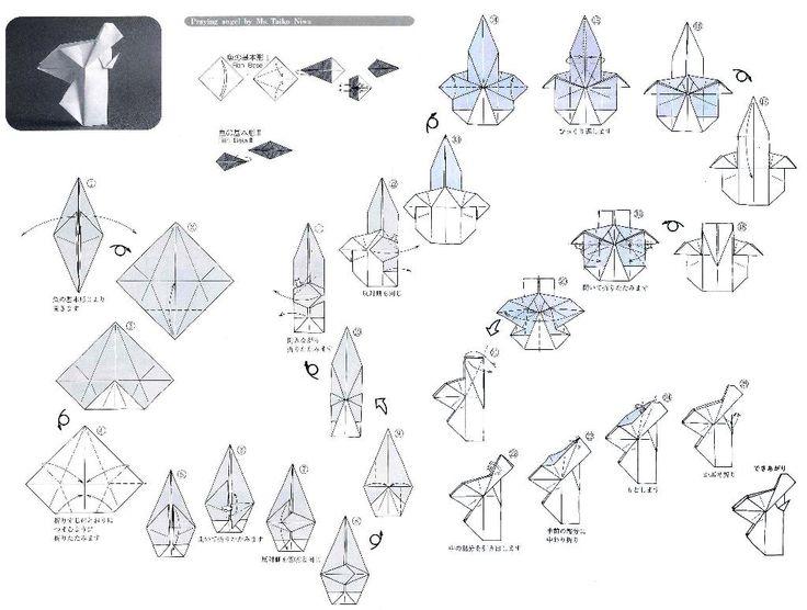 origami angel diagram