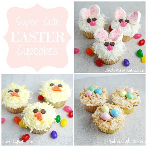 Cute Easter Cupcakes! creationsbykara.com