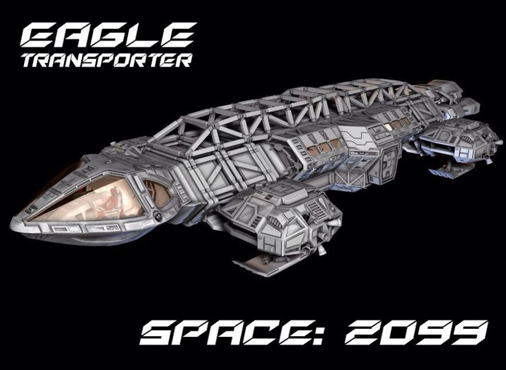 Space: 2099 - Eagle transporter redesign concept by Jeffery Wright (Space: 1999)