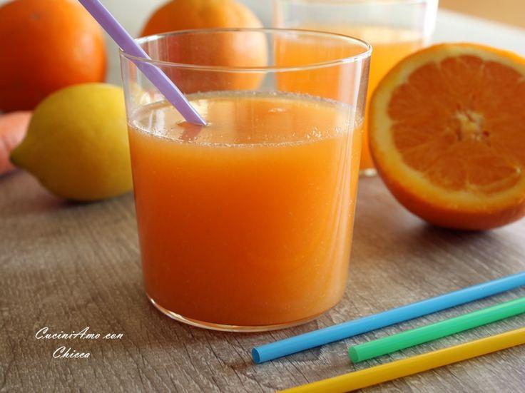 Una ricetta velocissima un super concentrato di vitamine, la bibita ACE, preparazione con e senza bimby ...