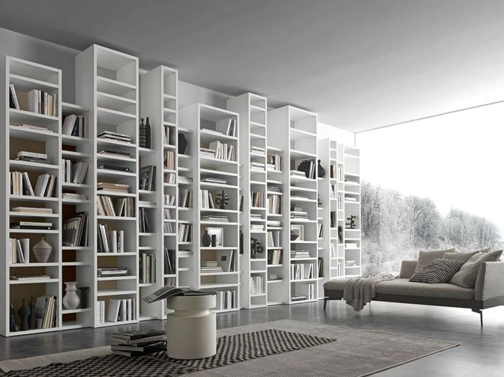 Libreria a giorno a parete componibile COMP 340 Collezione Pari & Dispari Librerie by Presotto Industrie Mobili | design Pierangelo Sciuto