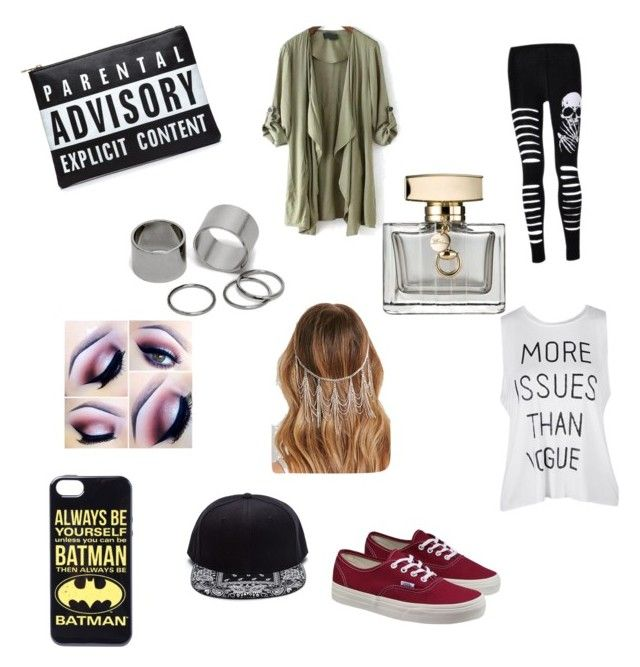 """Drag Me Down"" by masterofdolls on Polyvore featuring interior, interiors, interior design, home, home decor, interior decorating, Vans, Pieces, Forever 21 and Gucci"