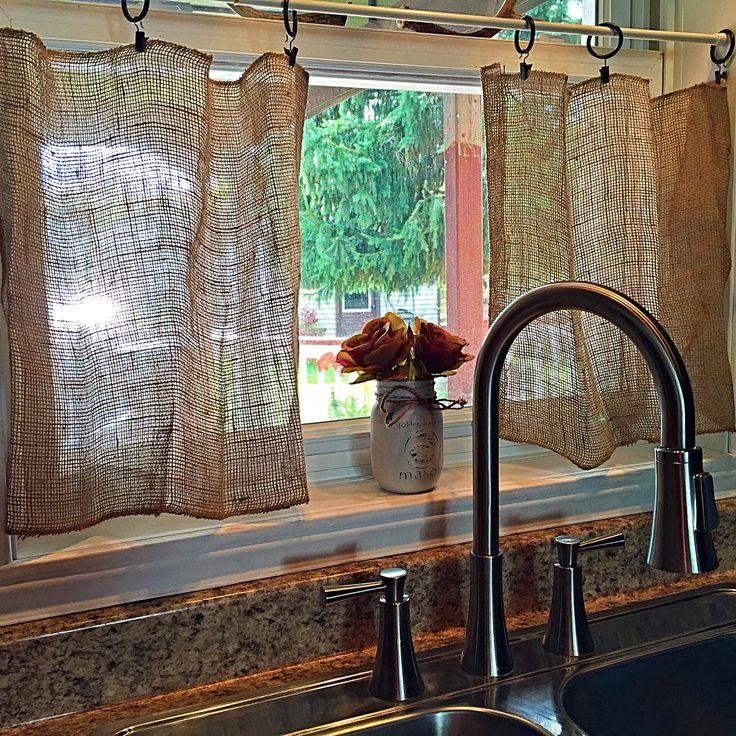 Best 25+ Burlap kitchen curtains ideas on Pinterest ...