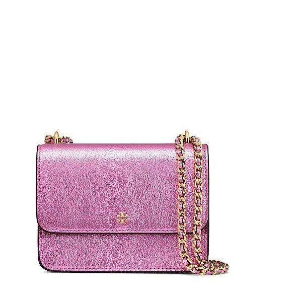 Tory Crinkle Metallic Mini Shoulder Bag