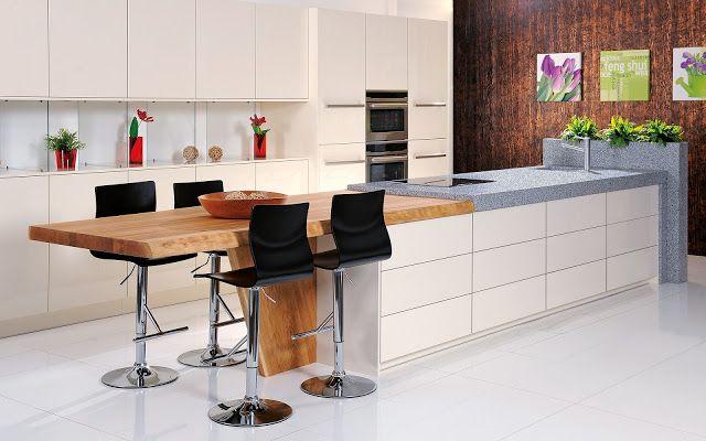 30 ideas de mesas y barras para comer en la cocina - Cocinas con barra ...