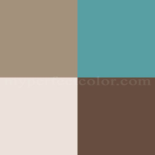 23 best aqua brown images on pinterest for the home for Turquoise color scheme living room