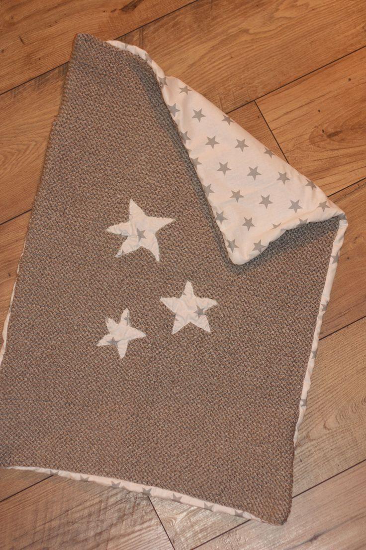 Couverture en laine et tissu pour des rêves étoilés !
