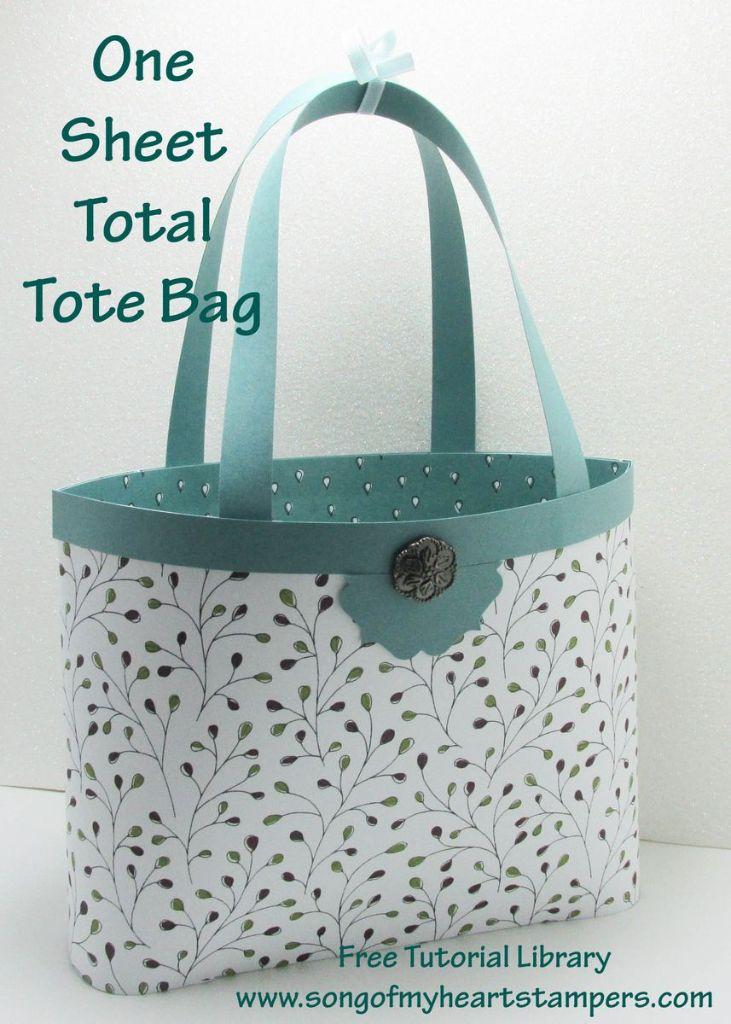 one sheet wonder tote bag #stampinup www.songofmyheartstampers.com free cardmaking tutorial library