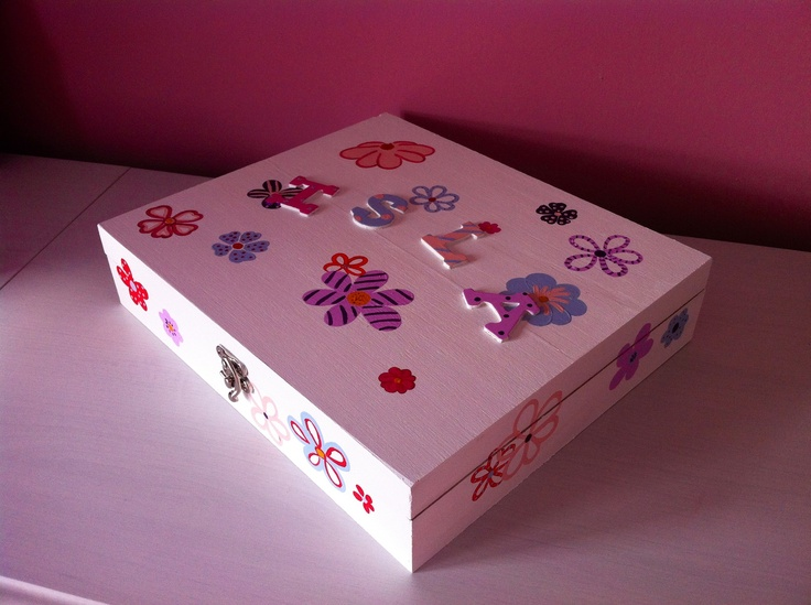 A flower themed keepsake box with 12 compartments. A perfect gift for Isla (4) to put all her trinkets in
