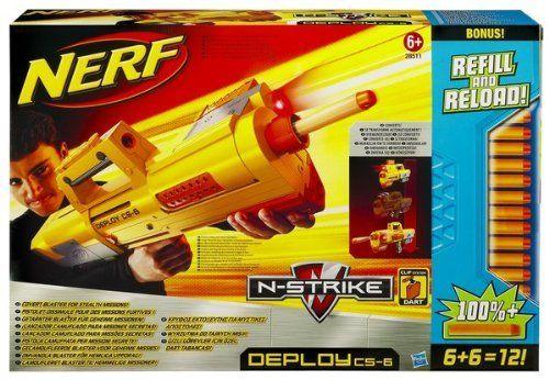 Nerf N Strike Deploy CS 6 Dart Blaster   Refill and Reload. #Nerf #Strike #Deploy #Dart #Blaster #Refill #Reload