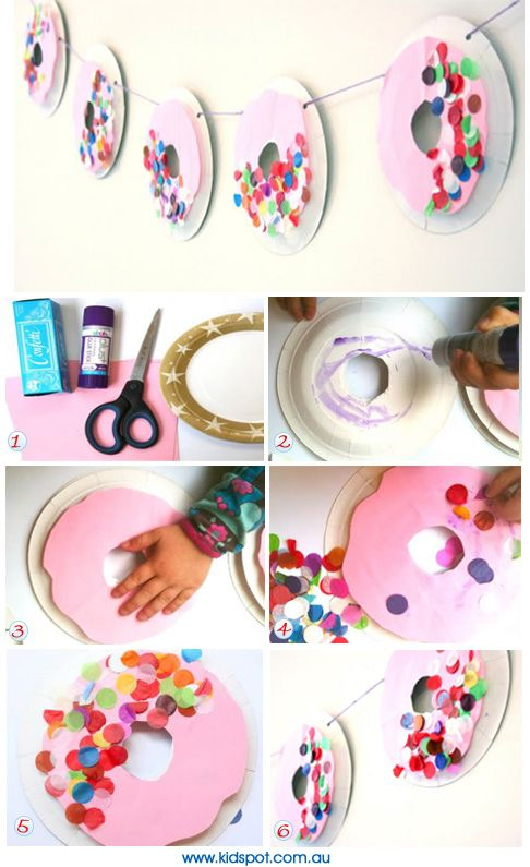 Pretty Doughnut Garland - what a great party decoration idea!