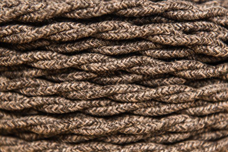 Rendelj tilka csavart sötét rusztikus textilkábelt méterre vagy kérd design lámpaként vintage foglalattal, hosszabbítóként. tilka.hu