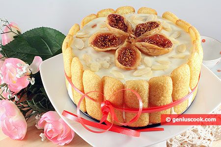 Charlotte Cake with Figs and Almonds | Desserts | Genius cook - Healthy Nutrition, Tasty Food, Simple Recipes