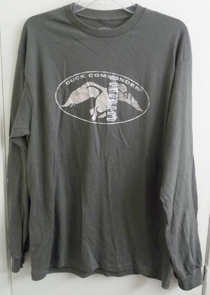 Duck Commander Long Sleeve T-Shirt Adult L Large Size Duck Dynasty New w/ Tags #DuckCommander #TShirt