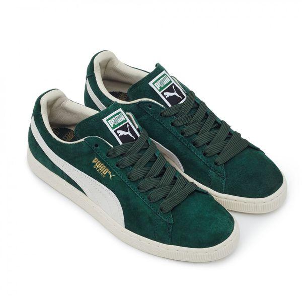 """Des Puma, vertes. Un peu de vintage n'a jamais fait de mal à personne, surtout dans ce coloris. Sneakers """"States"""", Puma, 55£ chez Dover Street Market"""