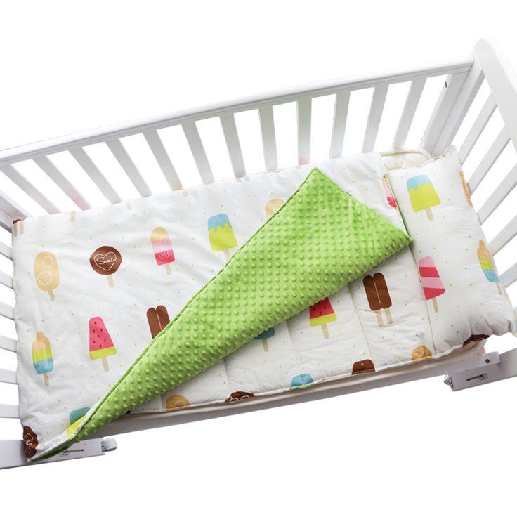 Cotton Baby Crib Bedding Set Quilt Pillow With Filling baby bedding set infant cot mattress nap mat