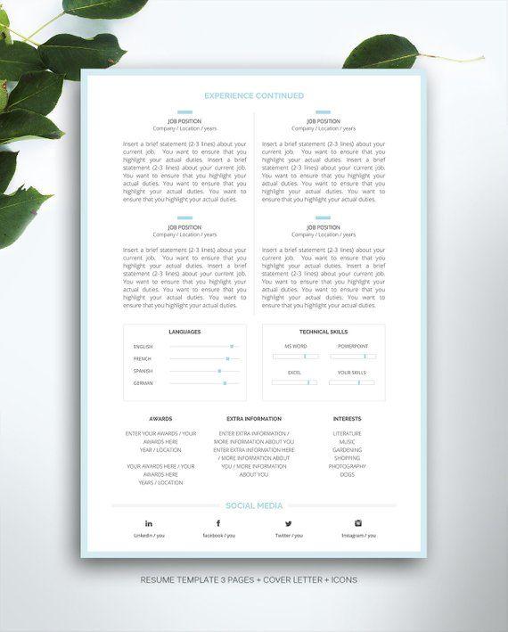 Curriculum Vitae Modele 4 Page De CV Lettre