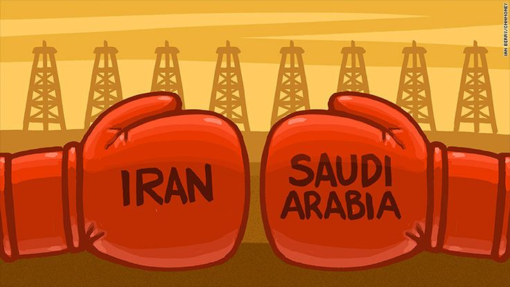 The oil price per barrel slid down to 34.53 due to fears about conflict with Iran and is the lowest since february 2009.
