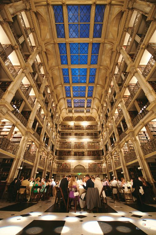 Wedding reception at the George Peabody Library