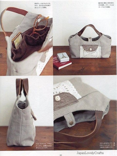 My Daily Basic Bags - Japanese Sewing Pattern Book for Bag - Tote, Granny, etc - For New Sewer - B769. $23,50, via Etsy.