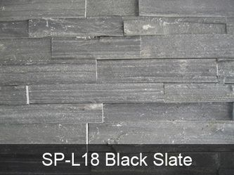 Black Slate - Ledge Stone Panels from China | Cement Backing Stone Panel | Stacked Stone Wall Cladding | Thin Veneer Stone Panel -