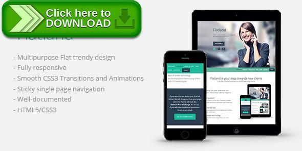 [ThemeForest]Free nulled download Flatland from http://zippyfile.download/f.php?id=12244 Tags: css3, flat design, html5, modern, responsive design, smooth animations, zurb foundation