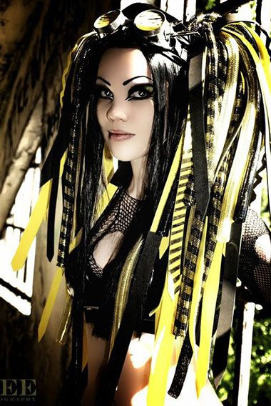 Cyber goth subculture is a mix of gothic and raver subcultures. Have you ever met these colorful people? Check our gallery and get some bright inspiration! (Mix Chicks Before And After)