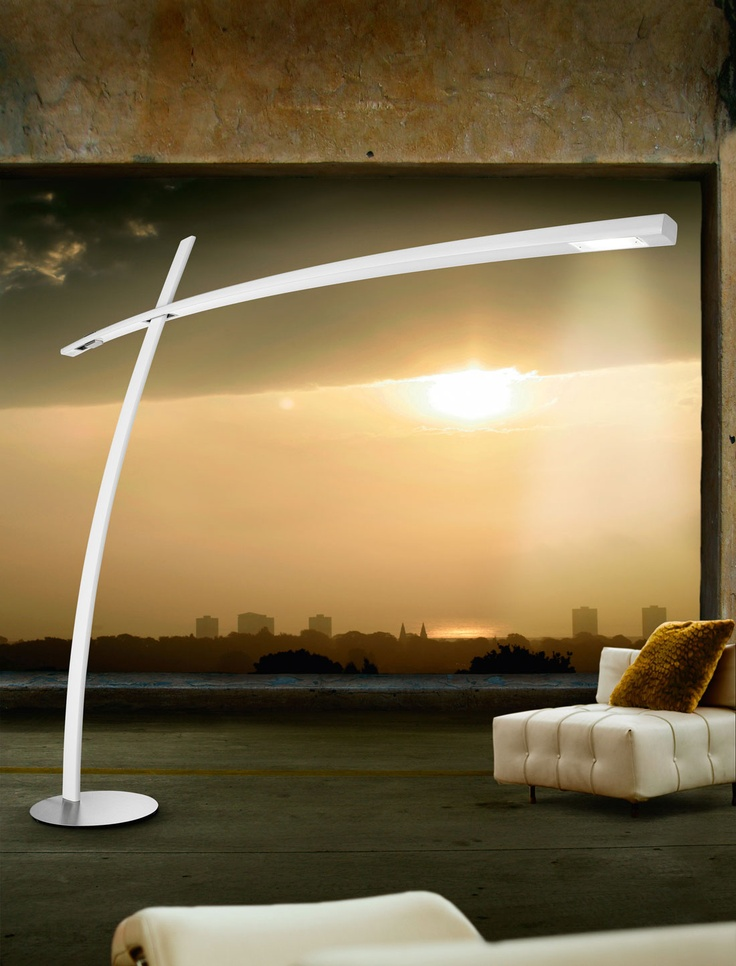Katana Floor Lamp In Carbon Fiber With Dual Inside Technology