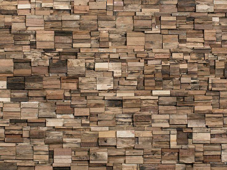 Holzwand aus Resten beim Holz-Zuschnitt im Bauhaus?