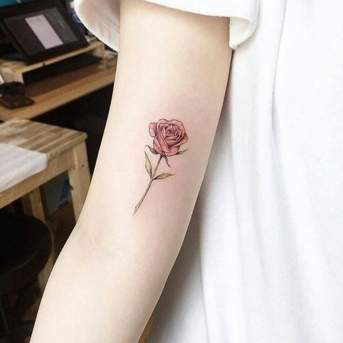 Tattoo Small Tattoo Minimalism Flowers Colorful Art Body