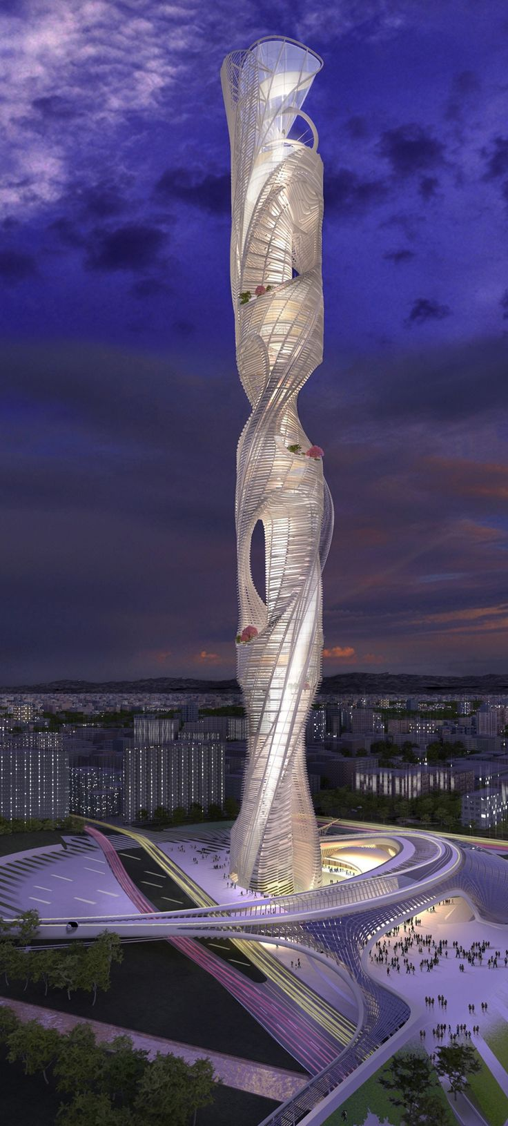 Taiwan Tower Conceptual Design Competition, Taichung, China  #architecture, luxury houses, interior design, #homedecorideas, luxury design, #exclusivedesign, homedecor For more inspirations visit us at http://www.bocadolobo.com/en/inspiration-and-ideas/