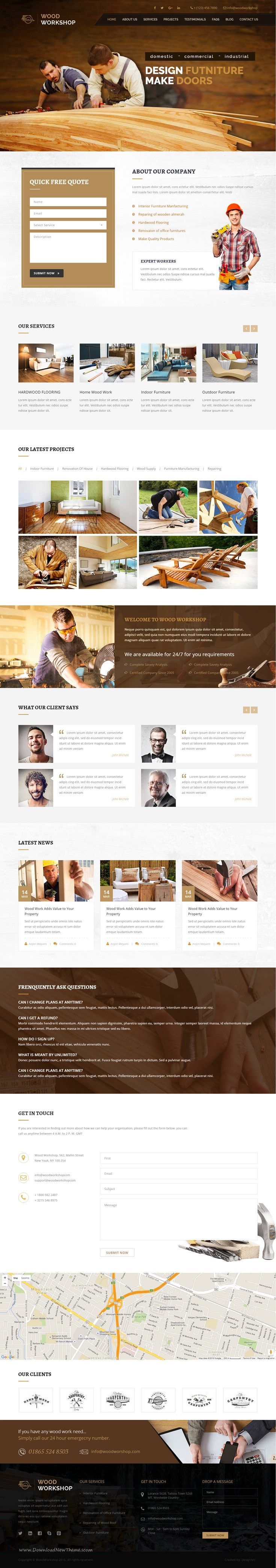 Wood Workshop - Carpenter and Craftman HTML Template