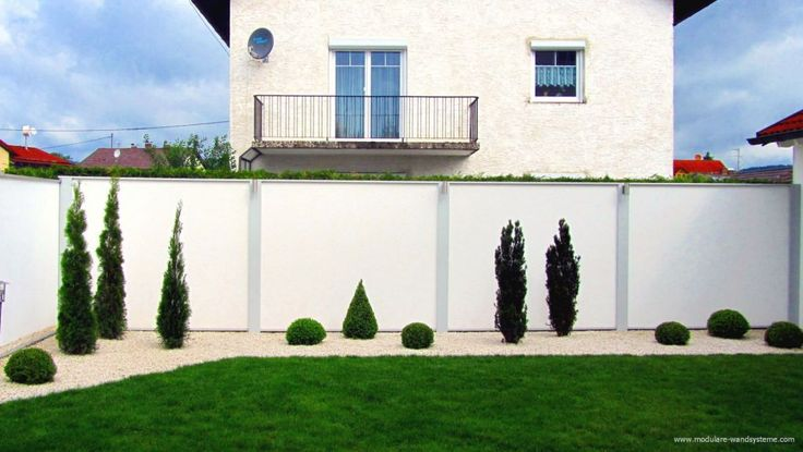 Modulare Wandsysteme Variante II Sichtschutz und Laermschutz