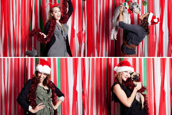 christmas photo booth backdrop ideas use streamers as backdrop to photo booth