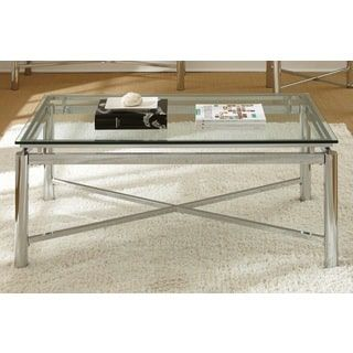Shop for Greyson Living Natal Chrome and Glass Coffee Table. Get free shipping at Overstock.com - Your Online Furniture Outlet Store! Get 5% in rewards with Club O! - 16850626