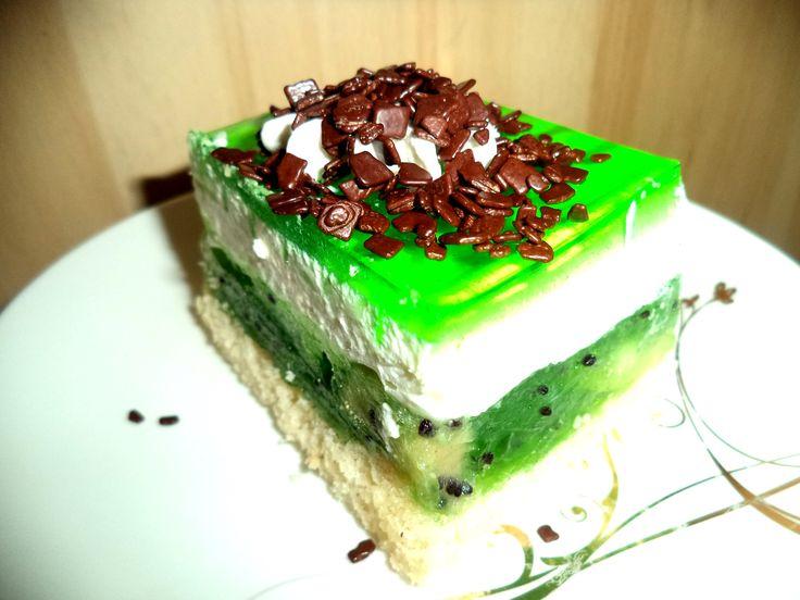 ciasto z kiwi i pianką śmietanową | prostedania
