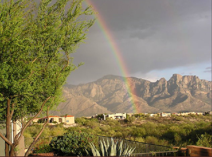 The end of the rainbow ends at Sun City Oro Valley