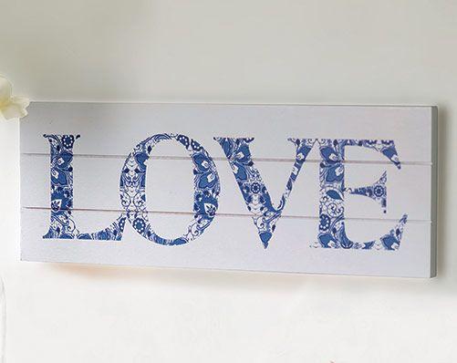 Stylish Love design plaque