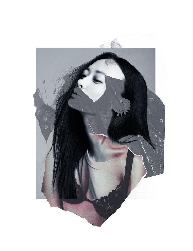 Sentaku © Louise Mertens fashioncollage, photomontage, digital collage, mixedmedia, cut and paste, japanese, archive, artwork