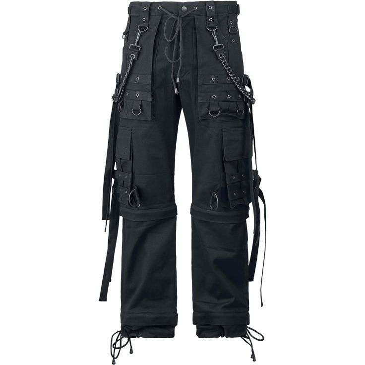 Black Chain (Loose Fit) - Cargo-bukser etter Gothicana by EMP