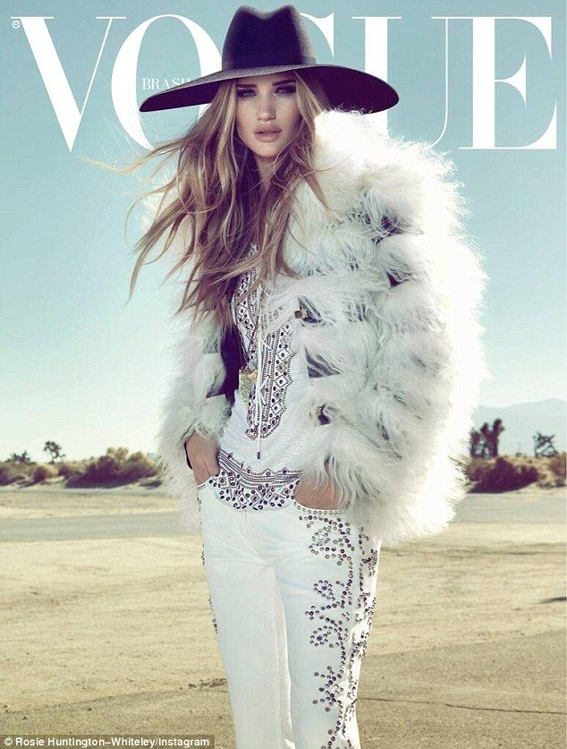 Rosie on cover Vogue Brazil's April 2013