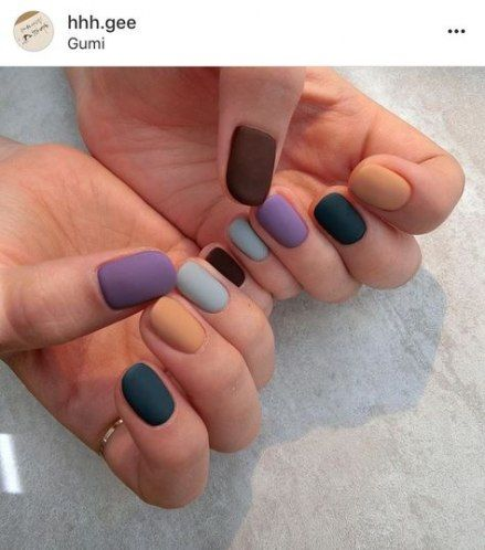 Best nails design autumn fall matte ideas