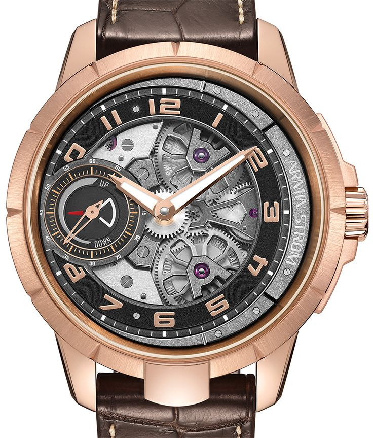 """Armin Strom Edge Double Barrel Watch In Rose Gold - by Michael Penate - More on this rose gold piece at: aBlogtoWatch.com - """"There's always something to be said about a brand that truly masters their craft and Armin Strom continues to show off such prowess with each new model. If you've been keeping up with releases from Armin Strom this year, you've probably had a chance to check out our first hands-on with the Armin Strom Edge..."""""""